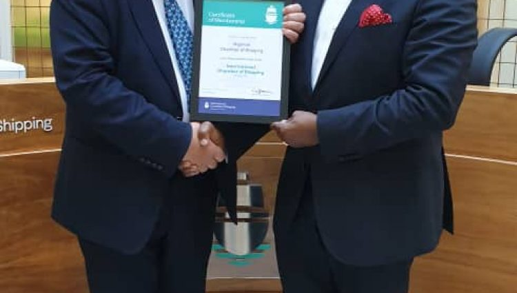 Photo News: NCS Presented with its ICS Membership certificate in London