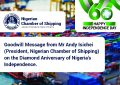 Nigeria's Diamond Anniversary Goodwill Message from Mr. Andy Isichei - President NCS
