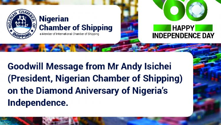 Nigeria's Diamond Anniversary Goodwill Message from Mr. Andy Isichei – President NCS
